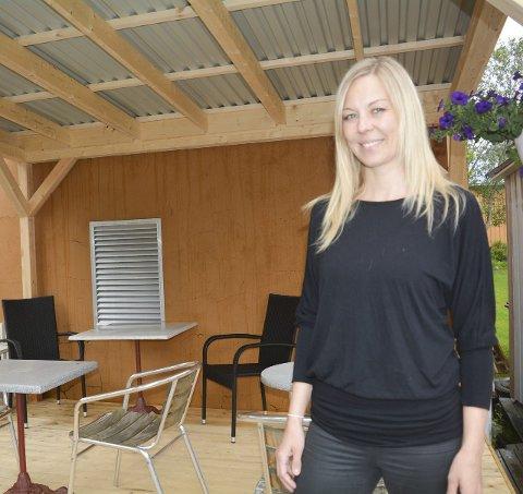 Klar for byfest: Trine Holmen gleder seg til byfesten, men er også litt nervøs.