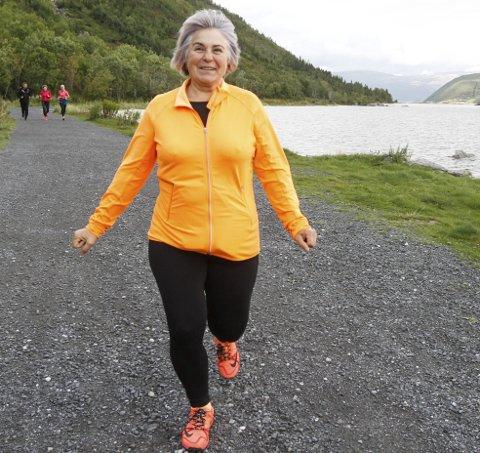 IVRIG: Danguole Einrem gikk alle 42 turmål i fjor, og 50 av 51 turmål i årets Sommertrim. Hun vant en sykkel.