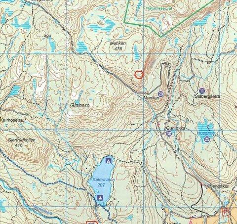 Rød ring: Kartet viser hvor posten ligger.