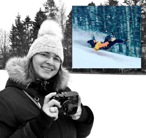 Beata Gravningsmyhr ble vinner av Instavinter med et herlig actionbilde av barn i farta.
