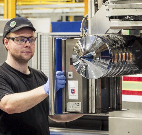 Ingot: NC produserer krystaller av silisium.Foto: Johan Votvik