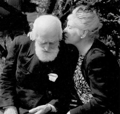 Ekteparet: Marie og Knut Hamsun på sine eldre dager.