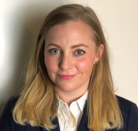 SPENNENDE ARBEIDSPLASS: Tine Osmundsen (36) har vært i Karmsund Havn i fem år. Etter nyttår begynner hun i ny jobb.