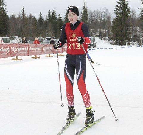 KM på ski Sjåmoen fristil. Arrangør Mosjøen IL Ski. Kretsmester G15 Prebene Horven, Bossmo