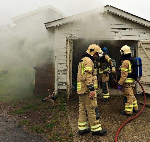 BRANN: Brannvesenet fikk raskt slokket brannen.