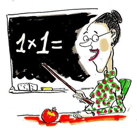 Egnet for å undervise i norsk skole? Skolemannen Odd A. Strømnes mener det legges altfor stor vekt på matematikkfaget i nye opptakskrav til lærerstudiet. (Arkivtegning: Jørn Grynnerup)