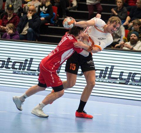 KLAR: Kristian Stranden fikk verdifulle minutter mot Kolstad, og melder seg helt klar for cupfinalen mot Elverum om ti dager.