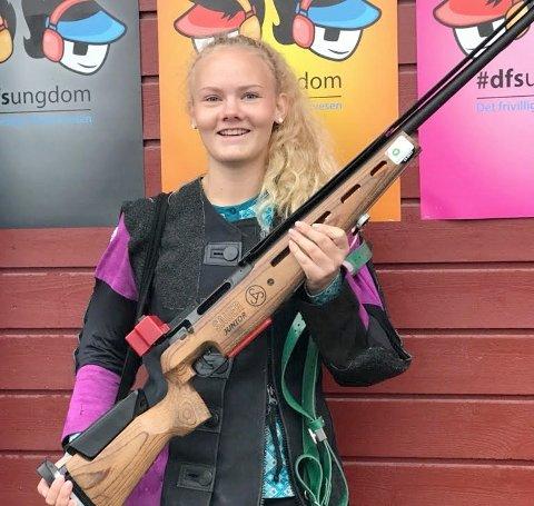 I TOPPEN: Helene Olafsen utmerket seg i Landsskytterstevnet.