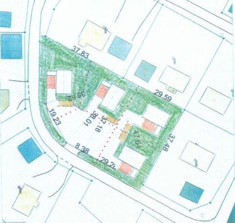 Her skal Gjerstad Hus og Hyttebygg bygge fire små eneboliger på 60 kvadratmeter.
