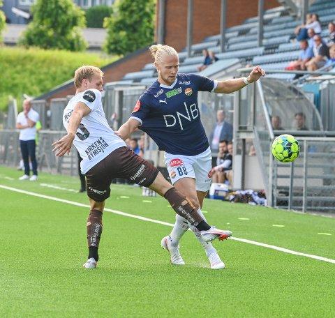 SEIER: Lars-Jørgen Salvesen var fornøyd med scoring og tre poeng etter onsdagens match.