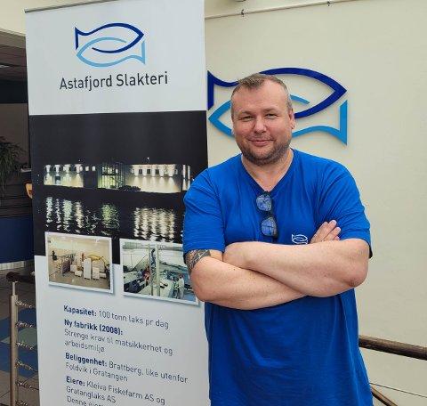 NY DAGLIG LEDER: Alexander Johnsen har jobbet med fisk hele livet. Nå skal han gjøre det som daglig leder hos Astafjord Slakteri.