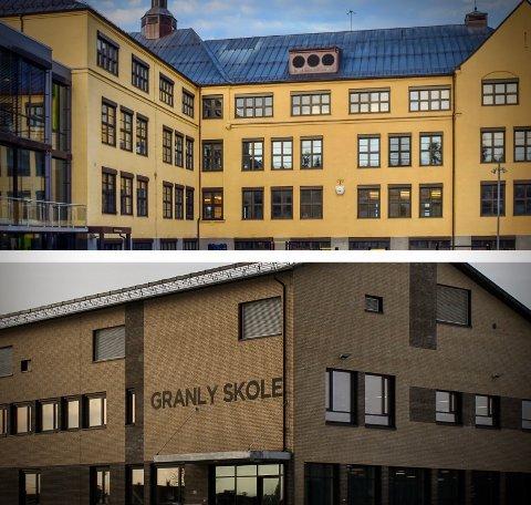 HARDT RAMMET: Både Sentrum og Granly skole er hardt rammet av koronautbrudd.