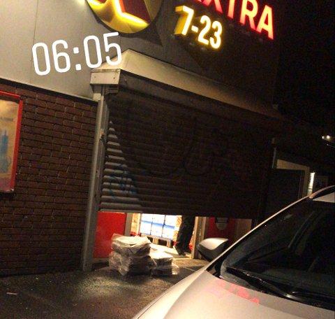 BLEIEJAKT: Lokalbutikken som til vanlig åpner klokken 7, ble redningen denne helgen.