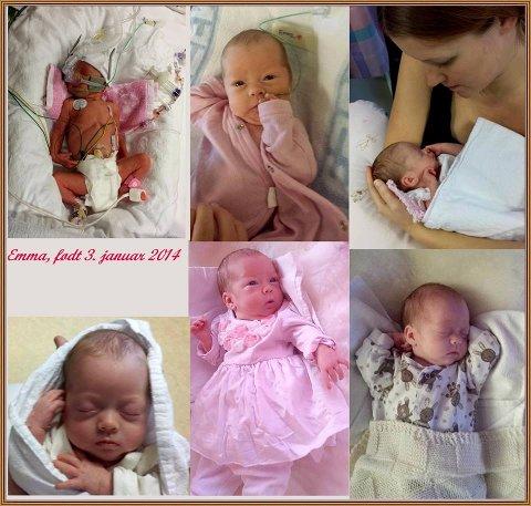 VANSKELIG START: Emma ble født tre måneder før termin.