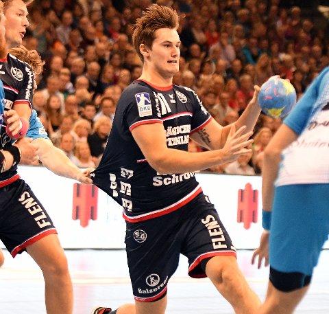 HÅNDBALLDRØM: Magnus Abelvik Rød har gått fra spill i eliteserien med BSK til spill i Bundesligaen for Flensburg.