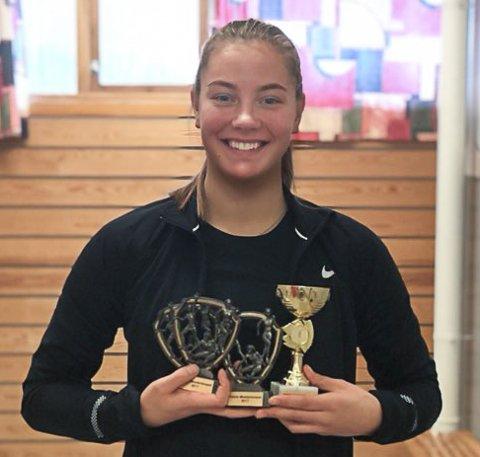 Hedda Strand Nilsen ble beste jente under basismesterskapet i Stangehallen torsdag.