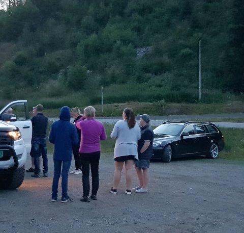 STOR HJELP: Folk fra hele distriktet samlet seg for å lete etter mannen i Snertingdal.