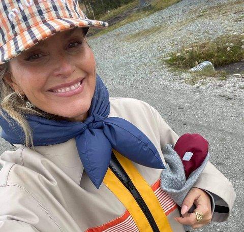LOGGET UT: Janka Polliani hadde logget ut og var på fjellet med familien da hun fikk den hyggelige beskjeden.
