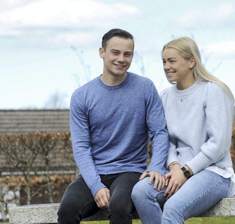 Sindre Heldal og Line Ellertsen har fått mye tid sammen denne våren.
