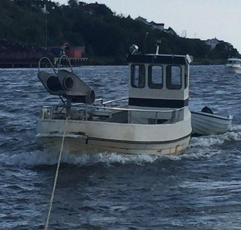 Mannens båt ble beslaglagt i forbindelse med aksjonen.