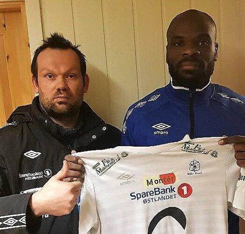 STOR SIGNERING: Nybergsund-trener Yngve Sandbuløkken er meget godt fornøyd med å ha sikret seg Jean-Yves M'voto sin signatur.