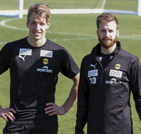 God start: Thomas Lehne Olsen og Aleksander Melgalvis stod bak det første målet for LSK mot Bodø/Glimt i serieåpningen søndag.