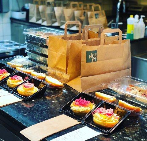 HJEMLEVERING: Restauranten Huset i Sandefjord har startet med hjemlevering av lunsj til personer på hjemmekontor.