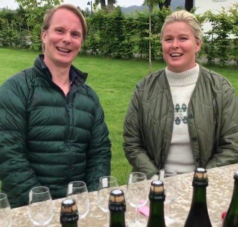 Petter Pilgaard og Vendela Kirsebom er på runde i Telemark denne uken.