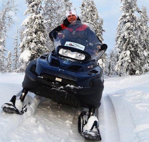 SKIFØRE: Kasper Andresen melder om flotte skiforhold på Lygna. Arkivfoto