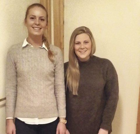 UT PÅ TUR: Elisabeth Harris-Christensen (t.v.) og Linn Kristin Osmundsen setter videre skolegang litt på vent når de nå snart skal besøke tre verdensdeler.