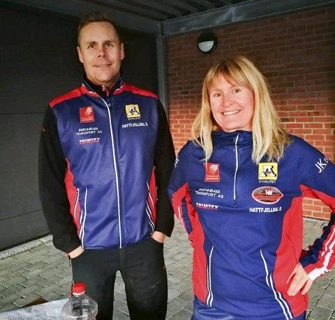 Erlend Krutnes og Mette Hagen Jarmund hadde ansvar for sesongens siste gateløp.
