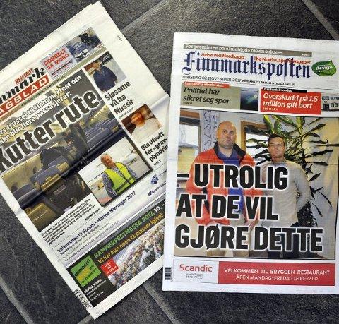 NY DISTRIBUSJON: Fra torsdag blir det ny distribusjon av Finnmark Dagblad og Finnmarksposten i Nordkapp kommune.