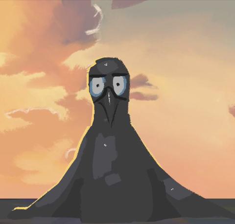 En animert kortfilm av Malin Dolena Brady og Katinka Adelen Holt fra 2KDAB på Elvebakken vgs.