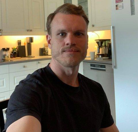I GOD FORM: Her en selfie fra Stian Semb Aasmundsen fra hjemme i Vestfossen fredag ettermiddag.