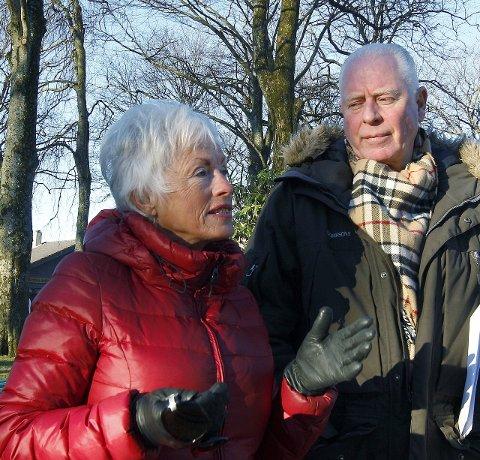 Har ideer: Liv Ferkingstad er initiativtaker til markedet. Her sammen med Odd Fossan-Waage jr.  Foto: Harald Nordbakken