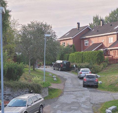 REAGERER: En beboer har sett seg lei av bilene som står parkert inne i et bilfritt område.