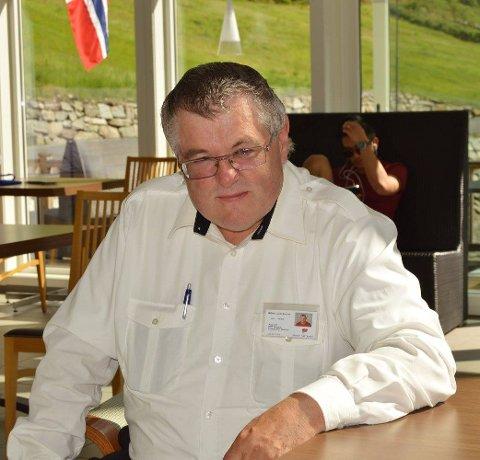 CRUISEVERT: Halvard Johan Bolstad har jobba med mange ulike ting, mellom anna på cruisekaien i Skjolden.