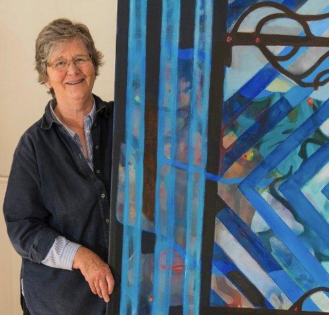 STILLER UT: Døren har Marit Aabel kalt utstillingen hun viser fram på Hadeland i sommer.