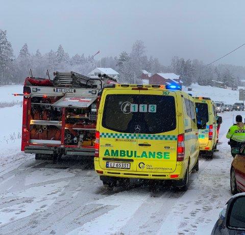 TRAFIKKULYKKE: Onsdag var det en trafikkulykke like ved Oslofjordtunnelen.