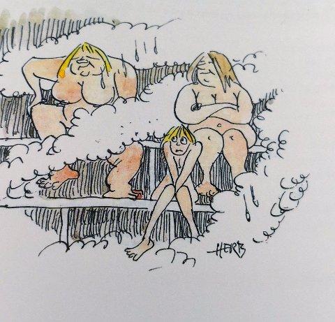 Reingjøring og badstubad.