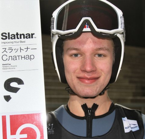 Best: Ole Kristian Baardset var sentral på Telemark og Vestfold-laget som tok sølv i mix-klassen i junior-NM i hopp i helga. Foto: Svein Halvor Moe