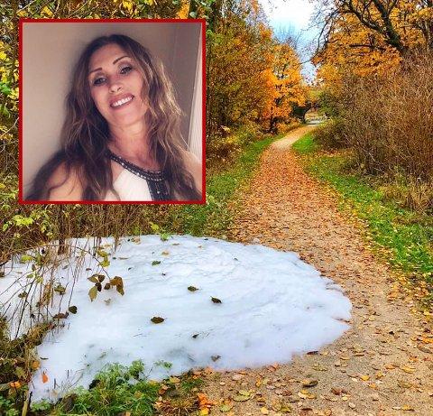 Heidi Sandholtet (49) oppdaget skum på Glommastien.