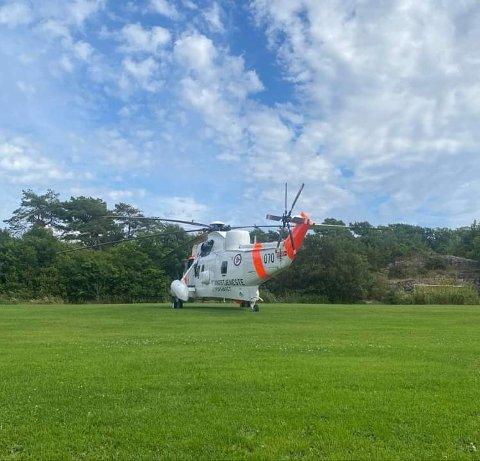Seaking-helikopteret deltok i redningsaksjonen.