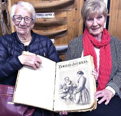 Siste tilskot til boksamlinga – «Allers Familie-Journal» årgang 1908. Gjevaren Elise Settemsdal (t.v.) saman med Eldfrid Sæthervik.