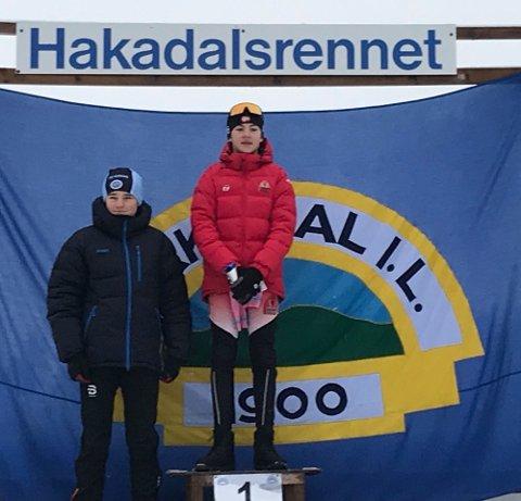 TIL TOPPS: Marius I. Dahl vant 14-årsklassen i Hakadalsrennet.
