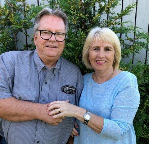 GODT GIFT: Wenke og Ole Hans Wallin har vært gift siden 1975. Sommeren 1982 mistet hun gifteringen under en badetur, men i sommer dukket den opp igjen.