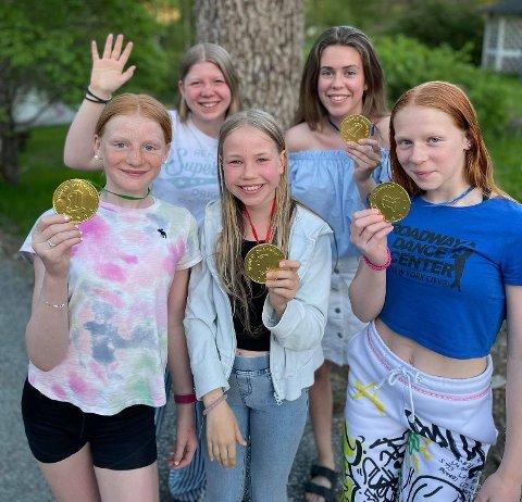 Drillerne i Kongsgårdmoen skolekorps sanket mange medaljer i ØM
