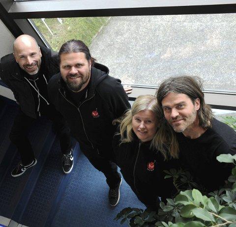 BRA BAND: Jo Henning Kåsin, Bjørn Thore Andreassen, Eva Rismo og Øyvind Dag Dahle har brukt opp overskuddet. Foto: Bjørnar Hagen Vika