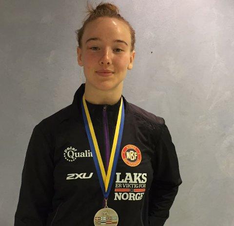 Sølvmedalje: Cesilie Høivik Magnussen kom på annenplass i Nordisk Mesterskap for seniorer.