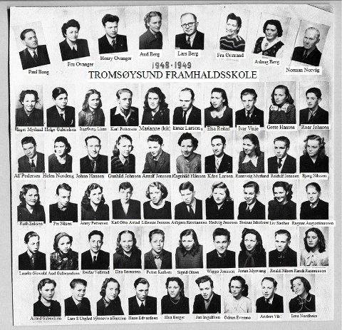 I etterkrigsåra var framhaldsskolen i realiteten den eneste utdanning for distriktsungdom, i ei tid da avstanden i skoletilbud var nærmest uoverstigelig for ungdom fra distriktene etter avsluttet sjuårig folkeskole. Lars Berg var lærer og styrer på framhaldsskolen i Tromsdalen.